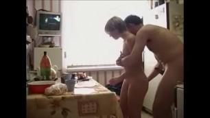 Russian Dad Bangs His Daughter During Breakfast