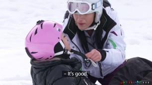 Girls Cayla Lyons Terra Twain Snowboard Student And Older Lady