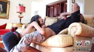Ebony Girl Bends Over For Huge Fat Dick