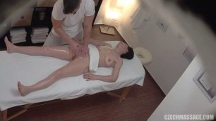 Brunette Gets Banged During Massage