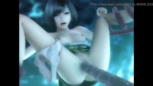 Awesome Anime com Yuffie in tentacle from FF7 Final Fantasy VII hentai porn