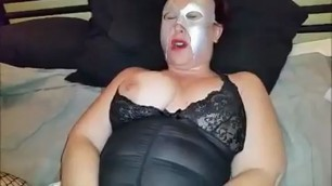 Horny bbw mature wife gaping her holes with some toys