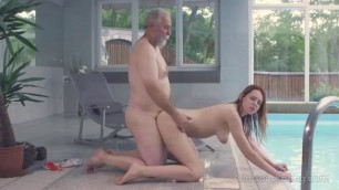 Young Girl Gets Banged By An Old Cock
