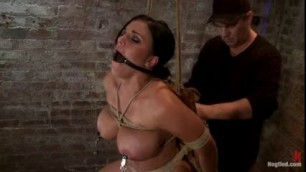 Mackenzee Pierce Bound In A Chair With A Dildo