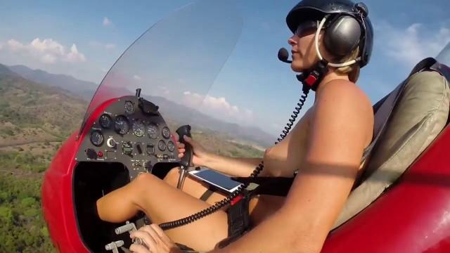 Gyrocopter girl nude