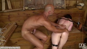 Angry Mister and anal domination of a naughty bitch