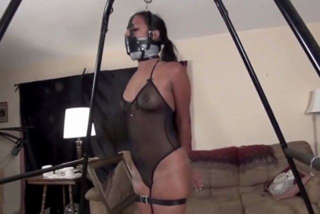 Girls doing self bondage video