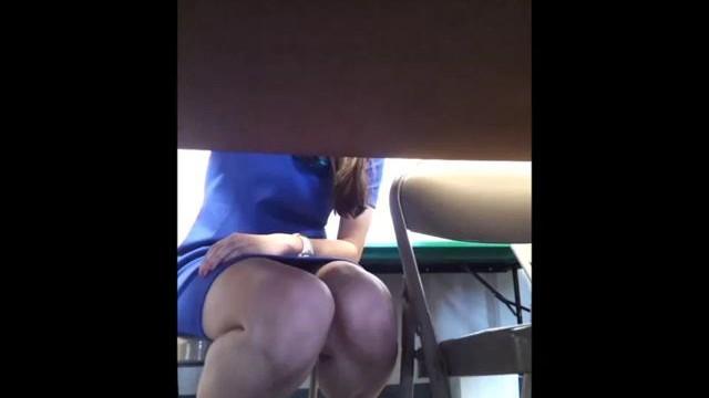Hidden cam under desk of not my sister is a good idea - 1 part 2